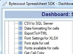 Spreadsheet SDK
