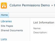 Column Permissions