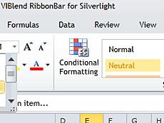 VIBlend Ribbon Bar for Silverlight