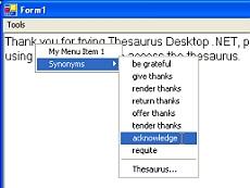 Thesaurus Desktop .NET