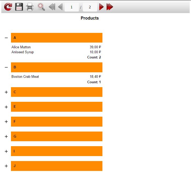 如何在web报表中添加下拉列表