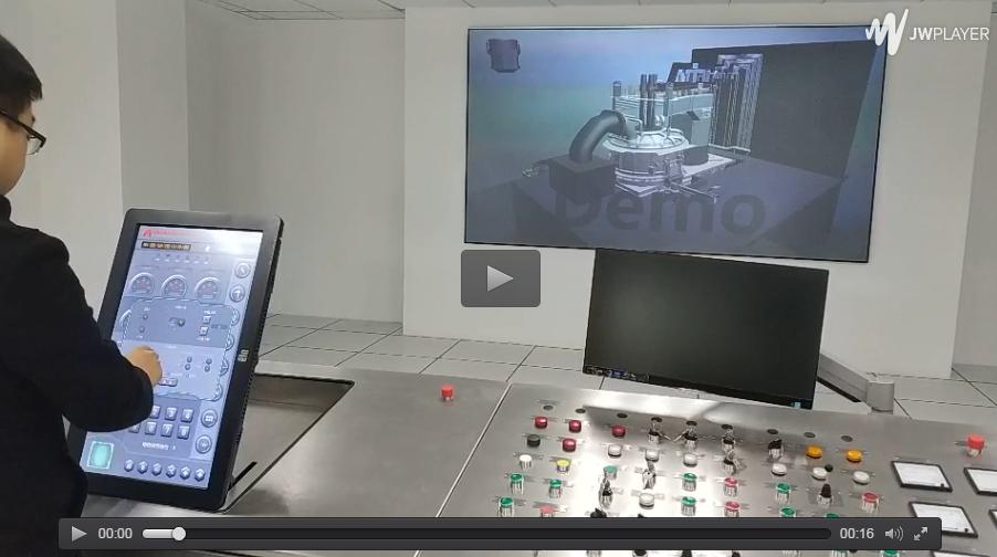 通过触屏控制电弧炉设备(仿真)效果演示