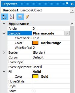 FastReport.Net中的条形码 PharmaCode