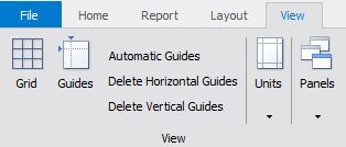 FastReport.Net 设计器 guide lines