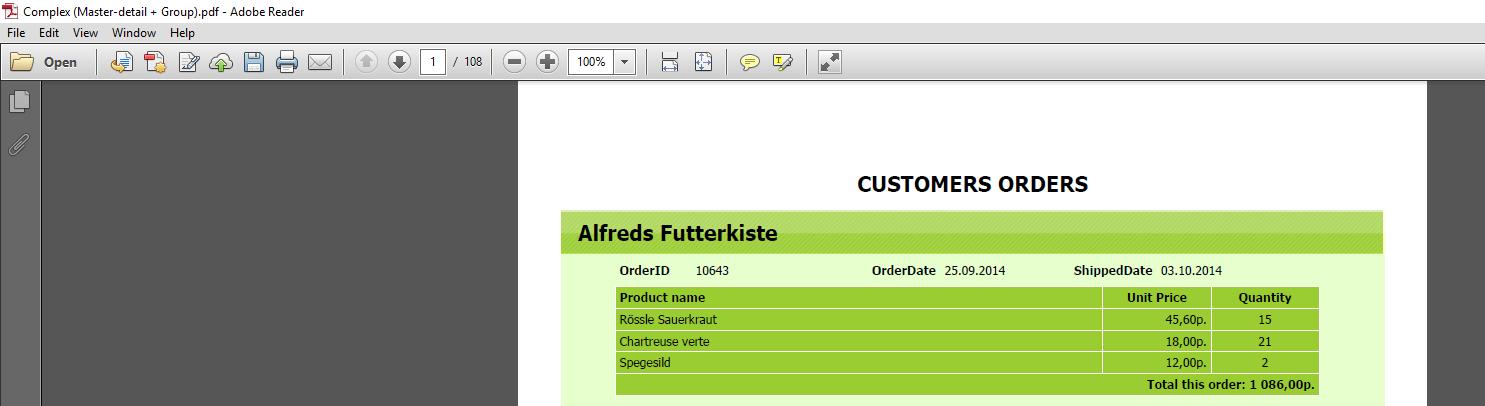 从FastReport.NET导出文件时,配置Acrobat PDF阅览器选项