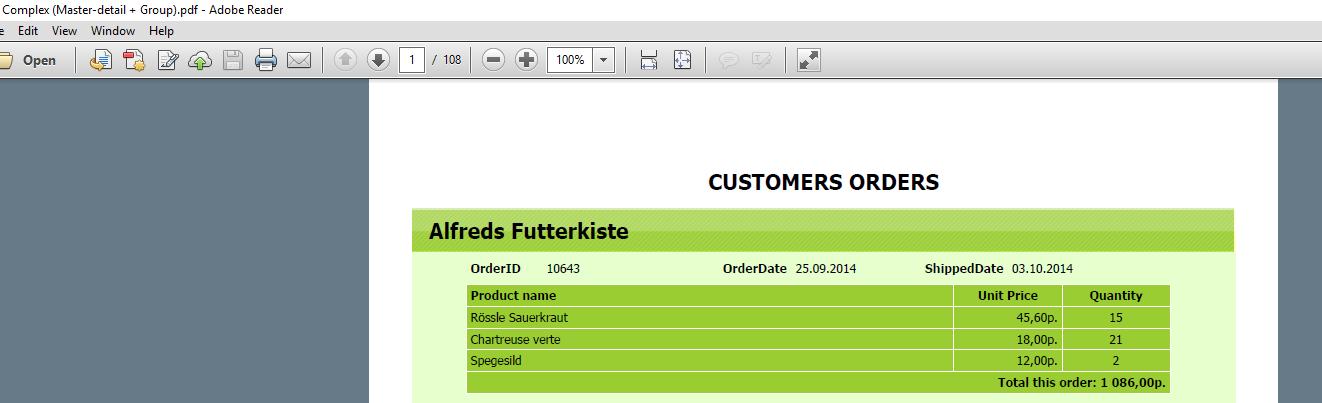 从FastReport.NET导出文件时,如何配置Acrobat PDF阅览器选项