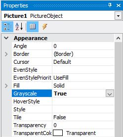 如何在报表页面使用图片的灰度