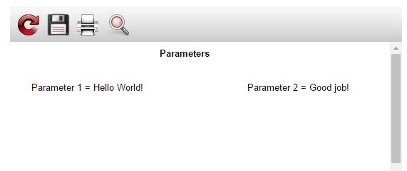 如何使用URL将参数传递给报表