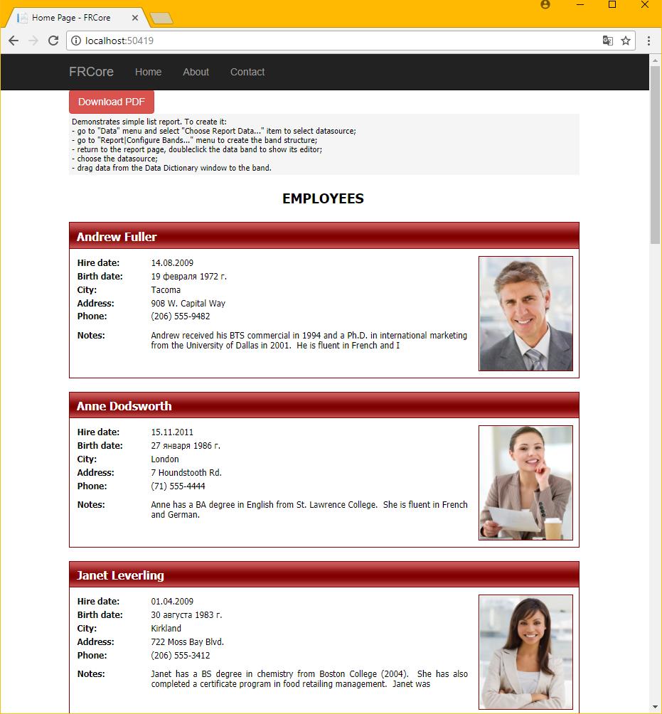 如何使用FastReport Core以PDF格式下载报表