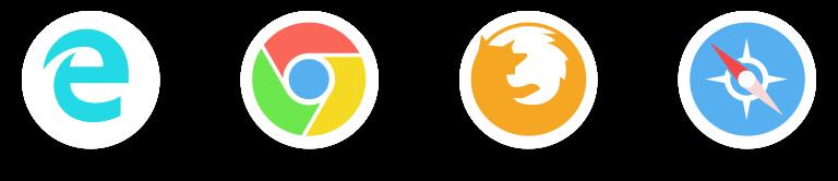 广泛的浏览器支持配图