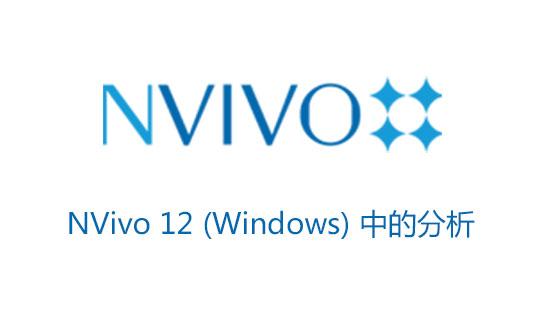 NVivo 12入门视频(二):NVivo 12 (Windows) 中的分析