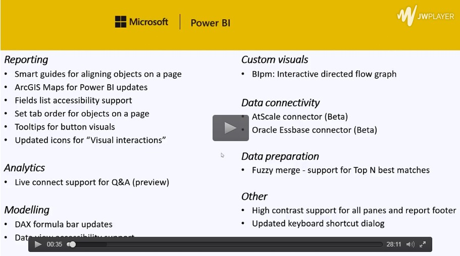 power bi12月更新视频