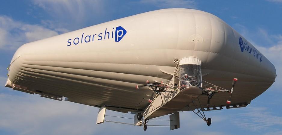借助 SOLIDWORKS 解决方案,实现第一架太阳能混合式飞艇的商业化