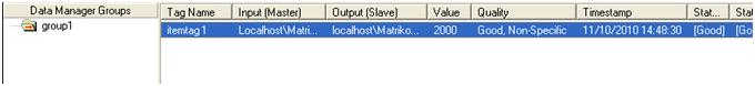 MatrikonOPC 图5-MatrikonOPC Data Manager中值改变