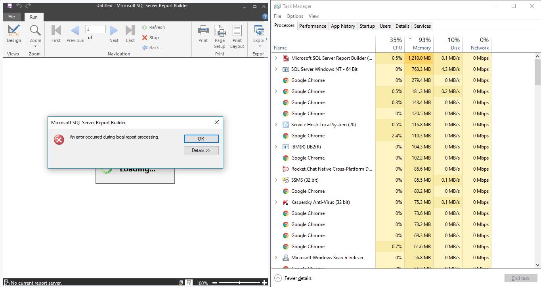 SQL Server Reporting Services压力测试
