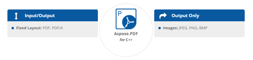 Aspose.PDF for C ++文件格式