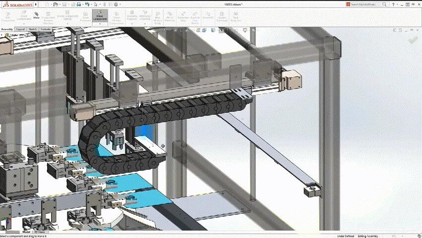 solidworks 3d CAD 布线走线检查