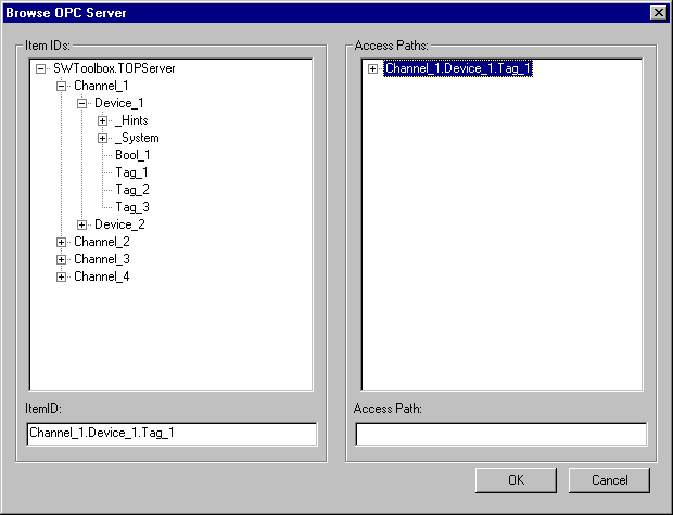 TOP Server 浏览可用标签06