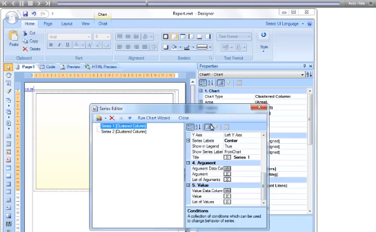 Stimulsoft视频教程:在页面上创建包含图表的报表