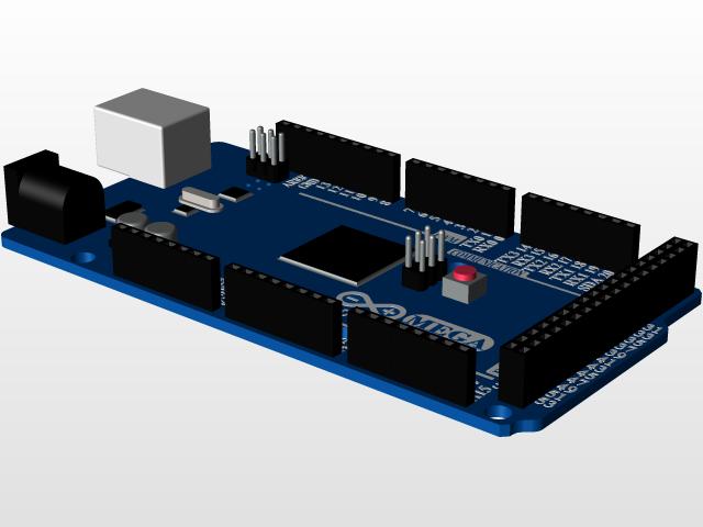 用SolidWorks画的Arduino Mega 2560