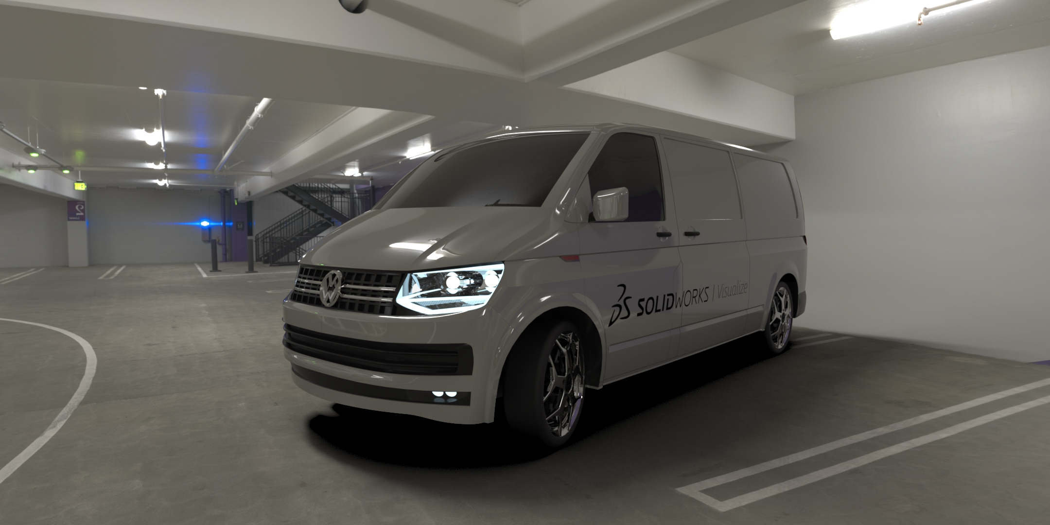 用SolidWorks设计的一款大众运输车T6