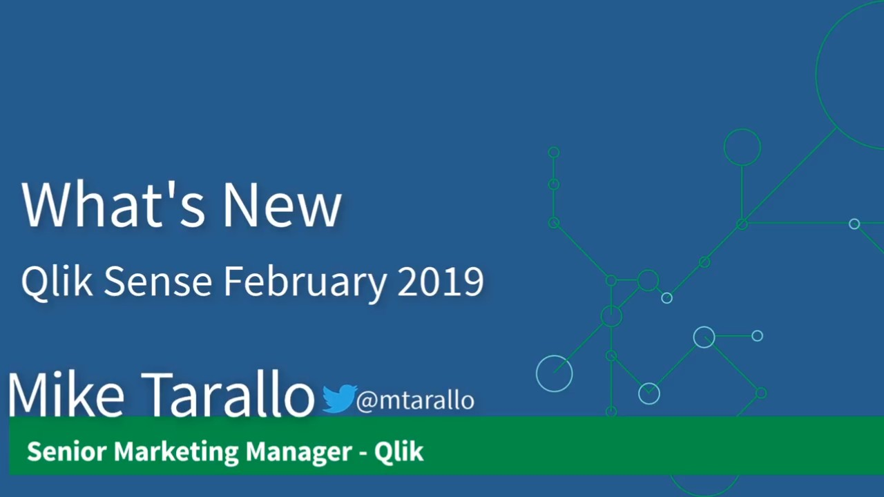 Qlik Sense February 2019 更新亮点大全视频