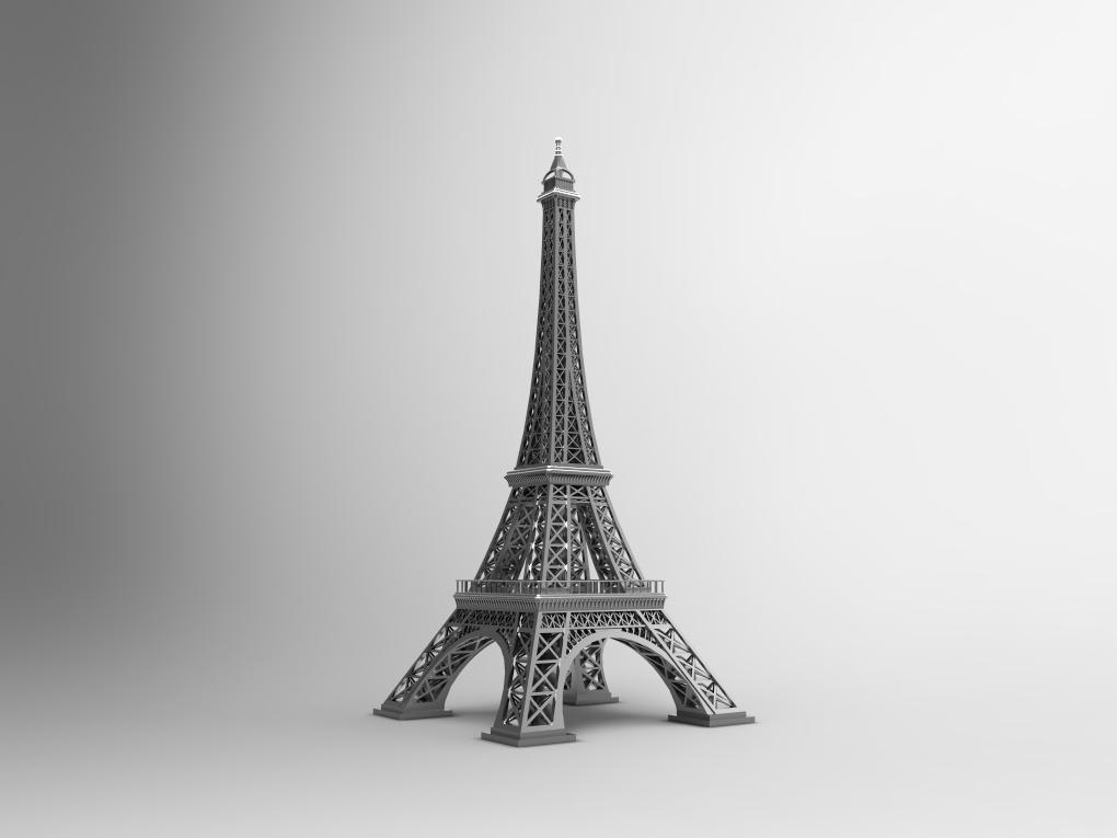 【模型】没去过埃菲尔铁塔?没关系,用SolidWorks为你设计出同款模型!