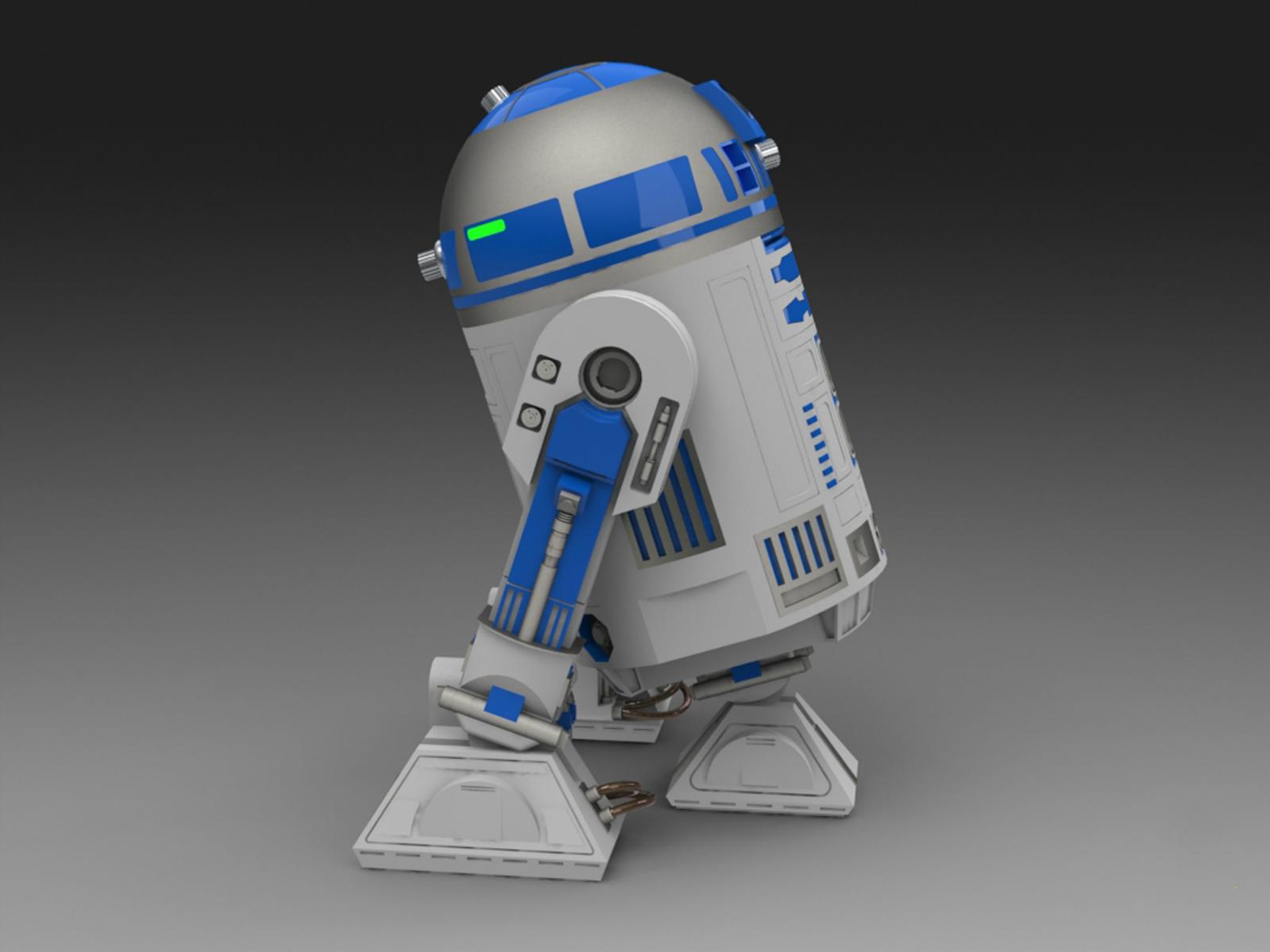 用SolidWorks设计的R2-D2(Artoo-Detoo)机器人