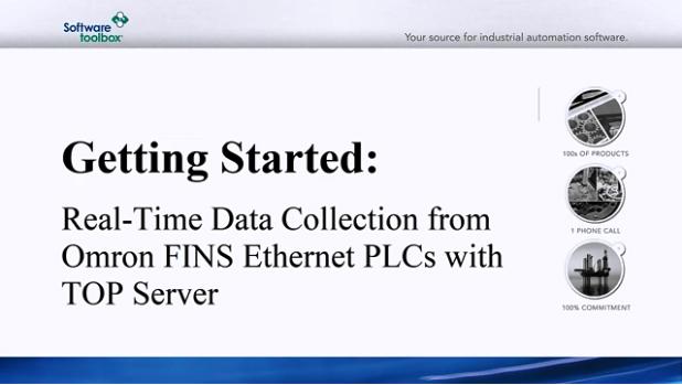 TOP Server视频教程:Omron FINS以太网的实时采集
