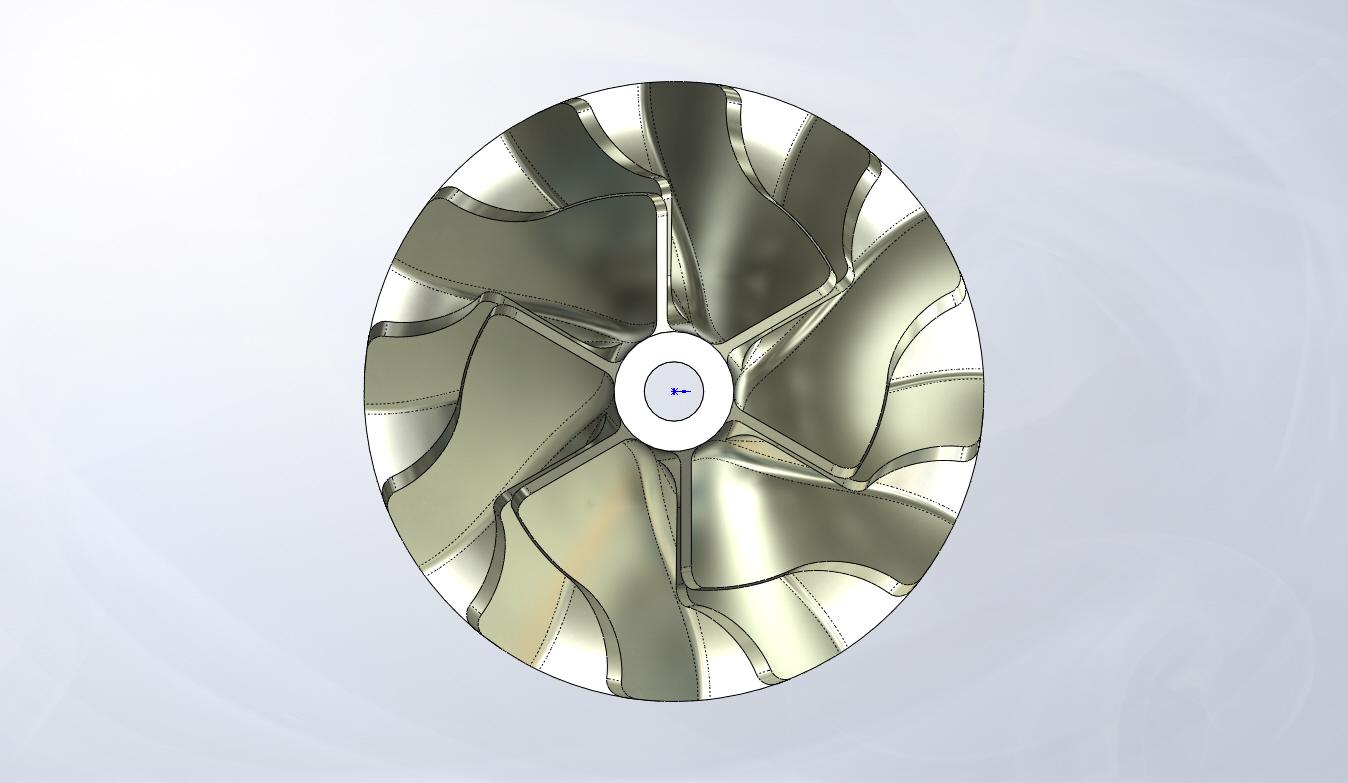 用SolidWorks画涡轮转子