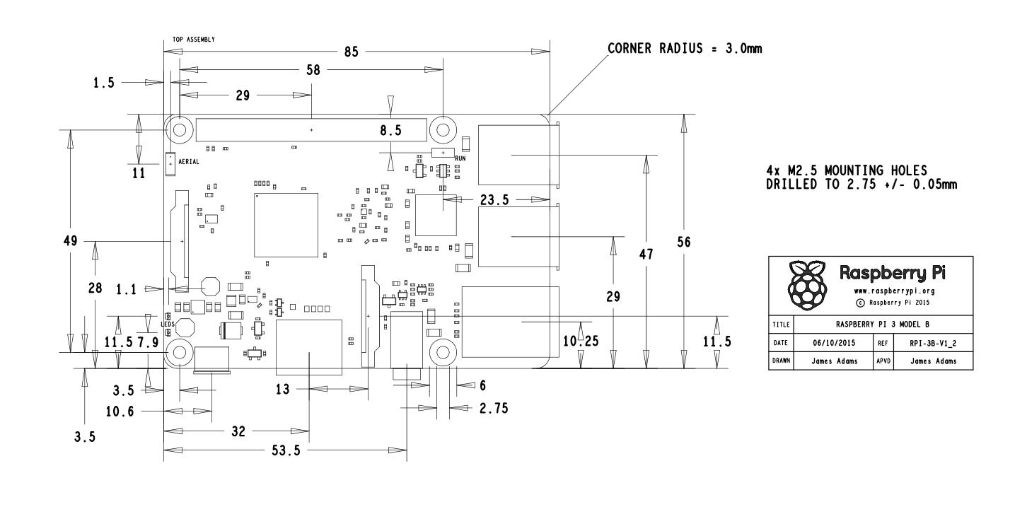 通过SolidWorks设计Raspberry Pi 3 Model B