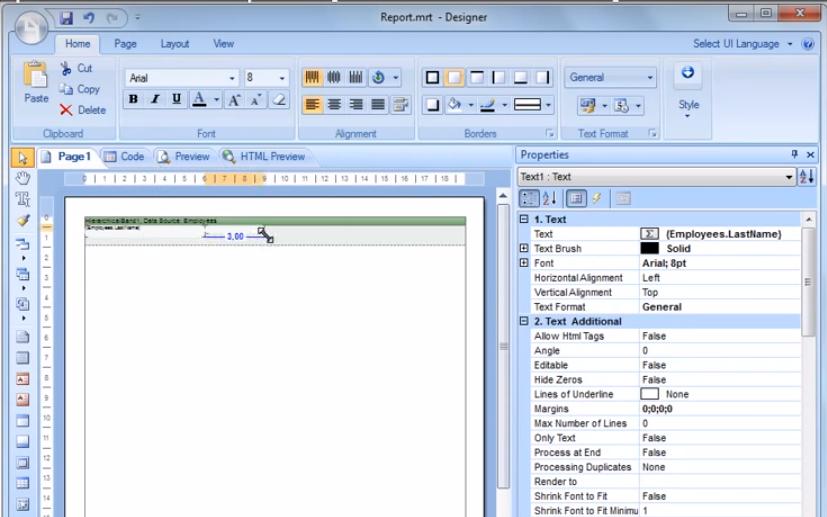 Stimulsoft视频教程:使用HierarchicalBand创建报表