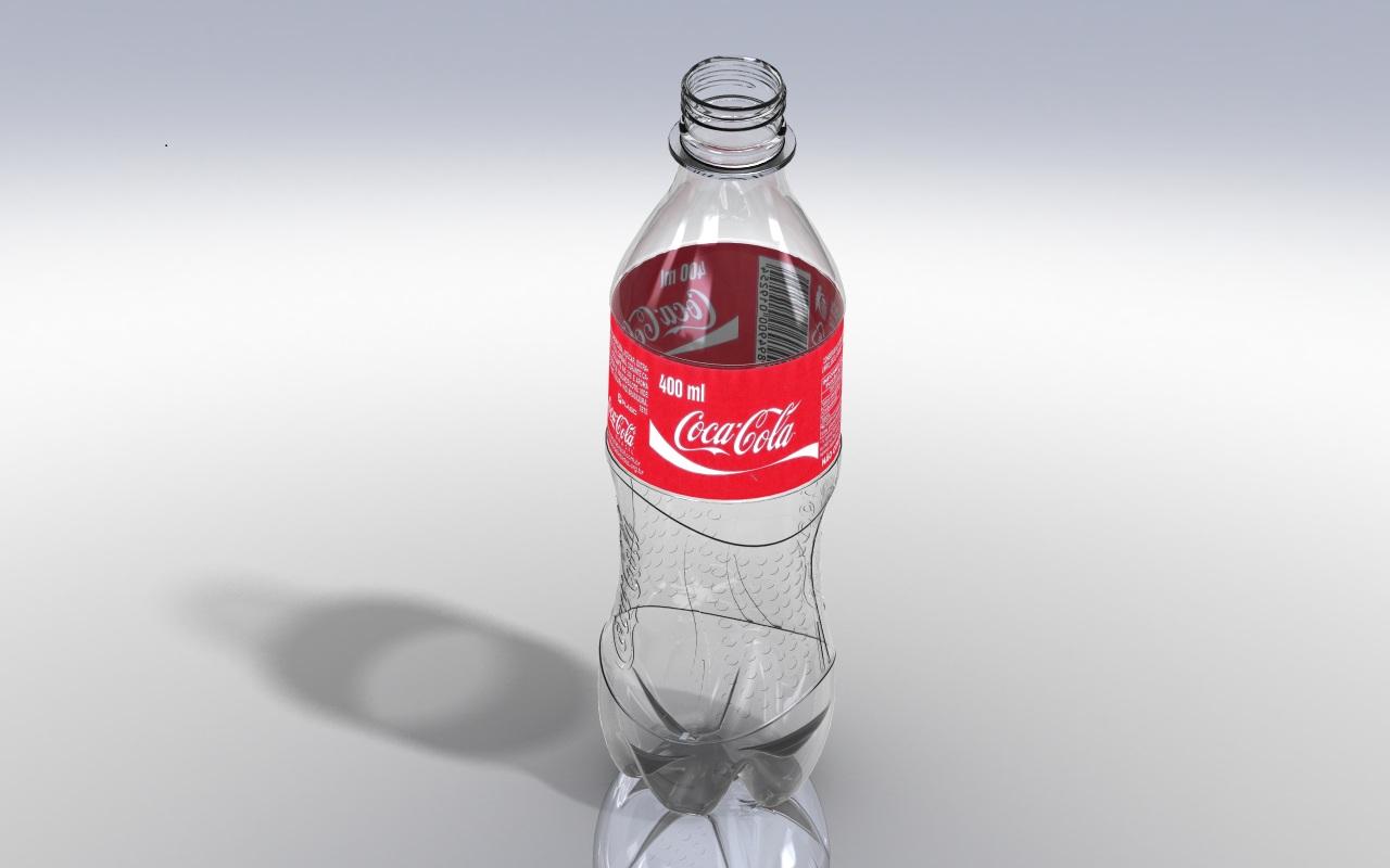 由SolidWorks设计的400ml可口可乐塑料瓶