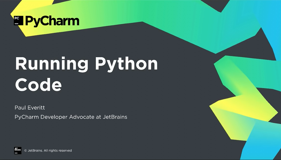 PyCharm入门视频教程:3-8 运行Python代码