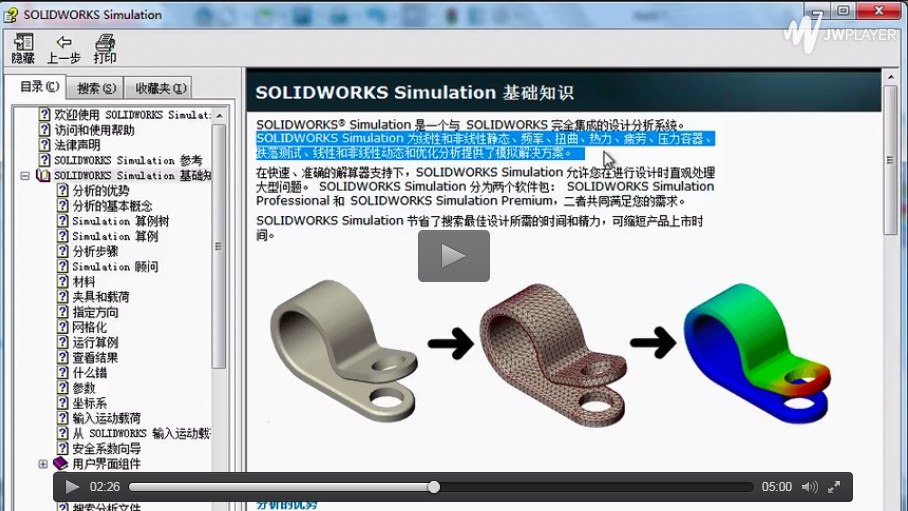 SolidWorks Simulation入门仿真分析(第一课)