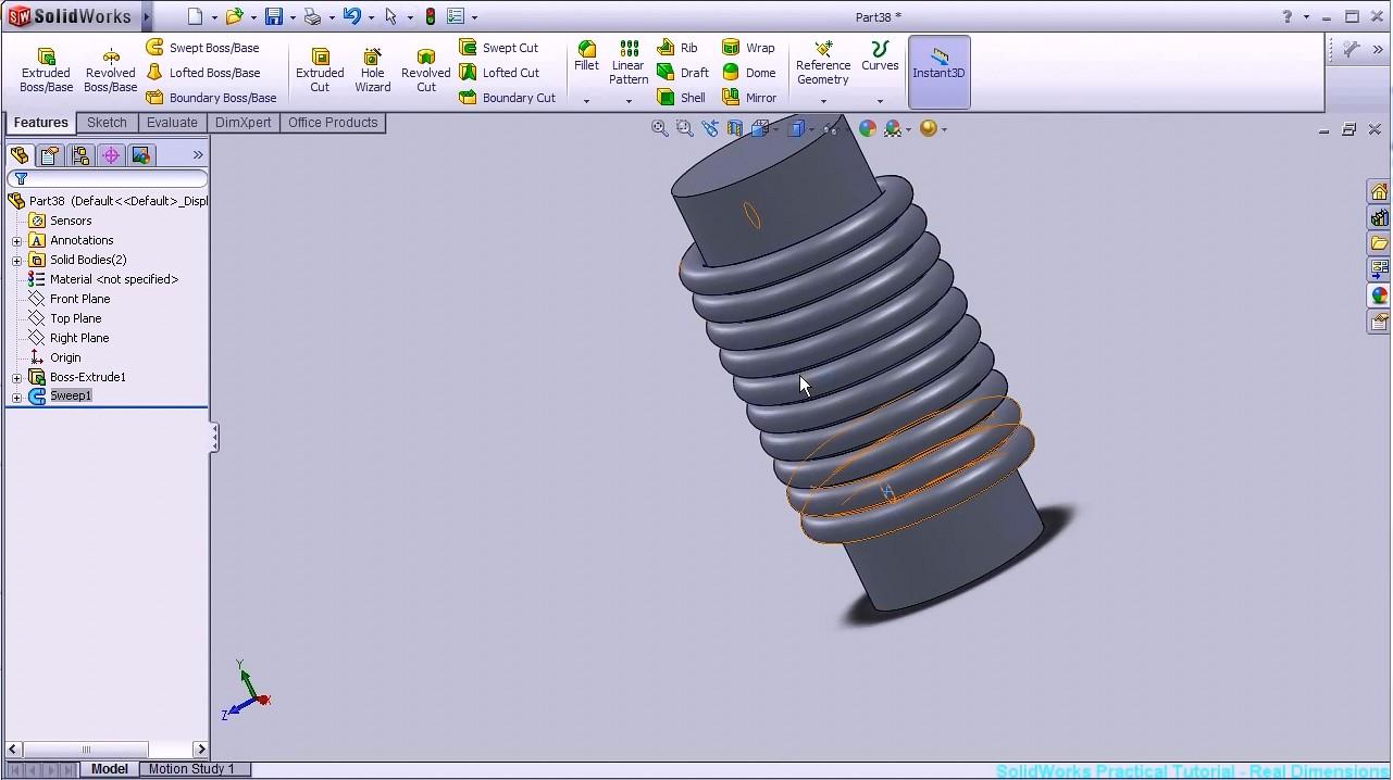 SolidWorks教程#15- 电机线圈pt1