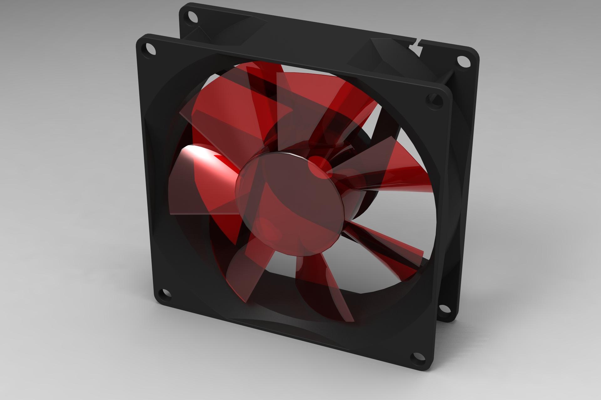 用SolidWorks画一个电脑风扇,让你的电脑也凉爽过夏天