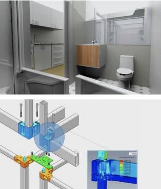 使用SolidWorks创新了高大上,功能强大的模块化建筑系统