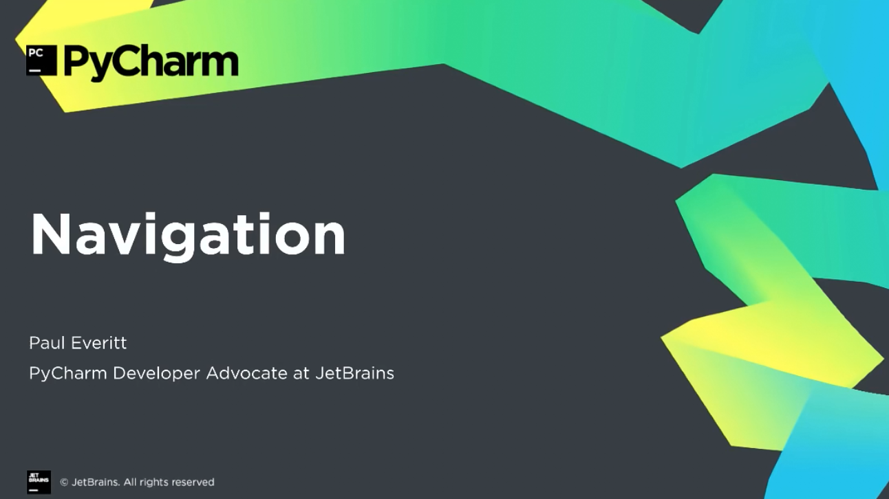 PyCharm入门视频教程:5-8 代码导航