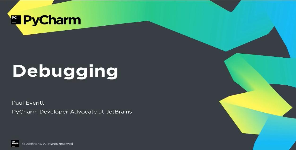 PyCharm入门视频教程:6-8 调试