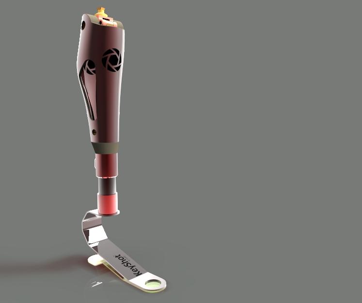 用SolidWorks设计的假肢模型