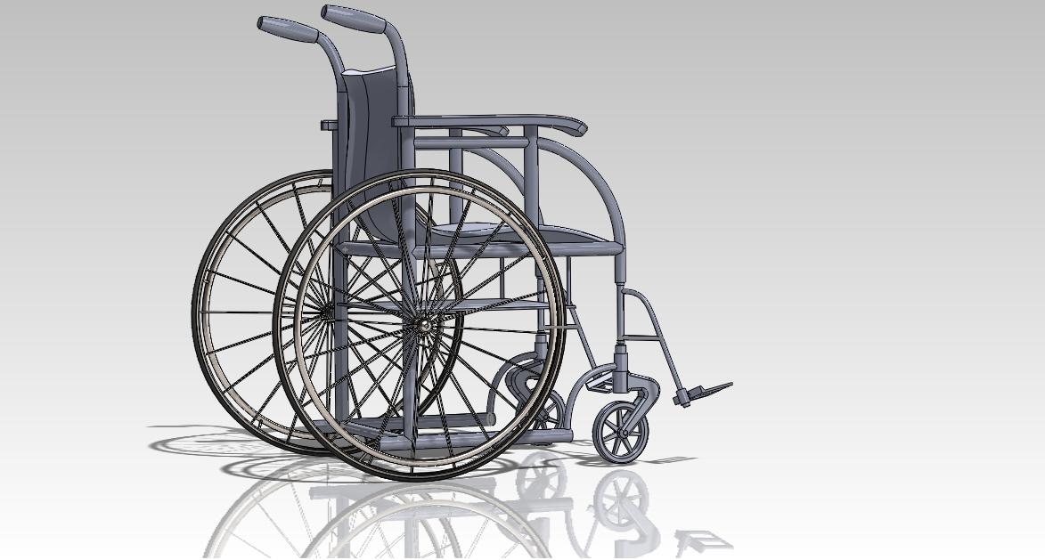 用SolidWorks设计的一款轮椅模型
