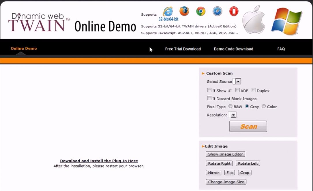 Dynamic Web TWAIN在线演示介绍