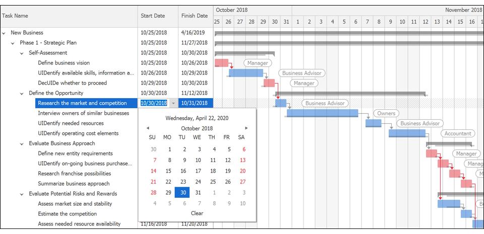 DevExpress Winforms v20.1新版亮点:Gantt/布局和导航控件