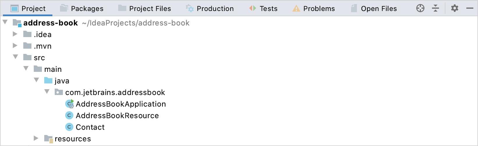 """禁用""""组选项卡""""选项的""""项目""""工具窗口"""