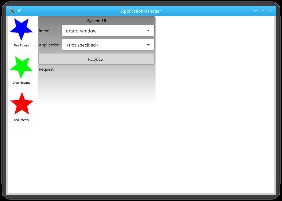 所有应用程序都在运行的Intents示例。