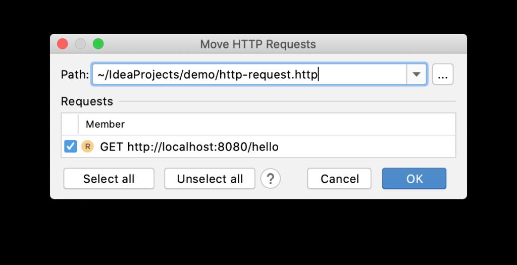 """""""移动HTTP请求""""对话框"""