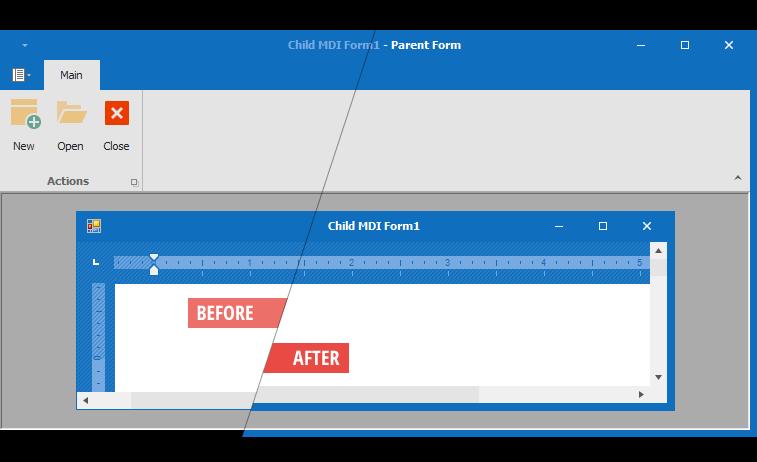 DevExpress WinForms帮助文档:表单控件 - Ribbon Form