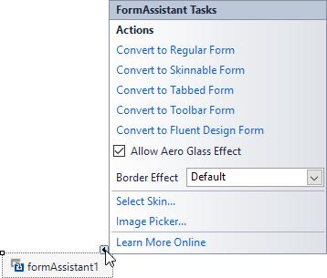 DevExpress WinForms帮助文档:表单控件 - Form Assistant