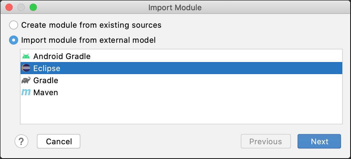 从Eclipse作为模块导入项目